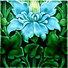"""Art Nouveau Tile made by Pilkington's and designed by Lewis F. Day, 1901"""