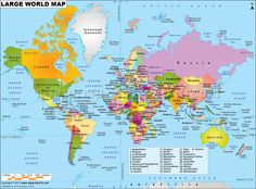 World physical map mountain ranges deserts etc click on each world map clickable to the all countries map of the world from maps of world gumiabroncs Images