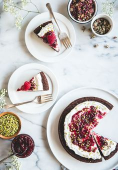 Gluten-Free Olive Oil Chocolate Cake with Raspberry-Rose Preserves from Camille Styles Gluten Free Desserts, Healthy Desserts, Easy Desserts, Delicious Desserts, Dessert Recipes, Popcorn Recipes, Chocolate Raspberry Cake, Chocolate Desserts, National Chocolate Cake Day