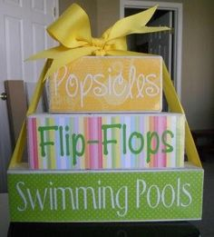 Summer!  Popsicles, flip flops, swimming pools