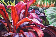 Daniel Bondroff, Volcanic Florablast - Original Soft Pastel