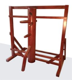 This dummy comes with a free standing version of the wall mounted dummy stand. It is a portable stand that gives you the feel of a wall-mounted stand's spring energy. Wing Chun Dummy, Wing Chun Wooden Dummy, Martial Arts Training, Frame Stand, Chakra Meditation, At Home Gym, Taekwondo, Wall Mount, Wings