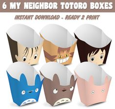 6 Popcorn Box My Neighbor Totoro