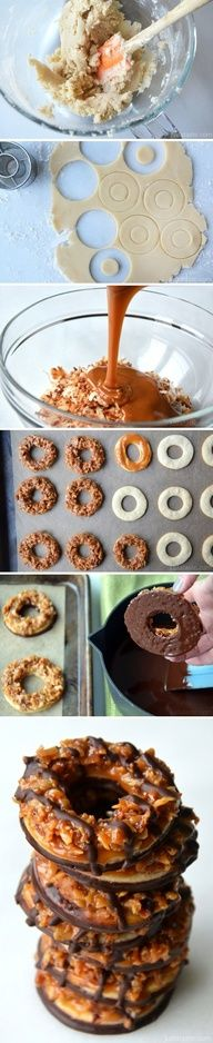 Homemade Samoas Girl Scout Cookies