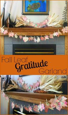 This is a great way to get your family thinking about gratitude and decorate your home at the same time. Thanksgiving leaf garland kids' craft. | http://www.evolvingmotherhood.com