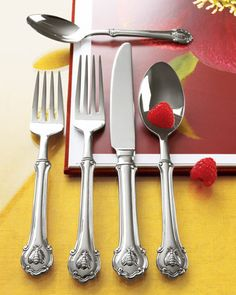 """Wallace 45-Piece Napoleon Bee Flatware Service - Horchow   Perfect for a person called """"Bee""""."""