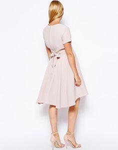 ASOS Maternity Full Skater Dress With Dipped Hem http://picvpic.com/women-dresses-evening-formal-dresses/asos-maternity-full-skater-dress-with-dipped-hem#blush