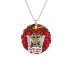 #Christmas #Vegan #Reindeer #Angel #Necklace by Lee Hiller Designs