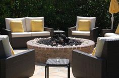 Firepit - idea only.  love the bullnose around the top