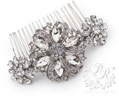Wedding Hair Comb Rhinestone Hair Comb Hair Accessory Wedding Jewelry Bridal Jewelry Bridesmaid Hair Comb Wedding Hair Piece Daisy