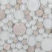 Found it at Wayfair Supply - Lucente Random Sized Glass Pebble Tile in Ivory