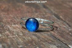 """Bracelet argenté """"Bleu nuit'"""