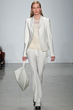 Reed Krakoff Fall 2012 RTW Look 23: Without a doubt, the perfect white suit.