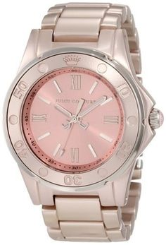 Women's Wrist Watches - Juicy Couture Womens 1900889 RICH GIRL Rose Gold Aluminum Bracelet Watch *** For more information, visit image link.
