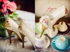 Unique hand-painted footwear by Figgie Shoes - MyWWWed | A worldwide web of inspiration & bespoke services for unique weddings