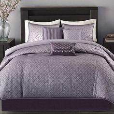 Madison Home USA Morris 7-pc. Comforter Set. Gorgeous purple bedding sets to choose from. #purpledecor #purplebedding #funkthishouse