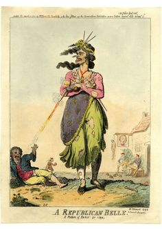Cruikshank I.: A republican belle. A picture of Paris for 1794 (10 March 1794,  S. W. Fores). © The Trustees of the British Museum.