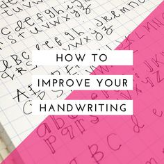 A blog post full of ideas and tips to help you improve your everyday handwriting and perhaps progress to decorative lettering. Improve Your Handwriting with practice