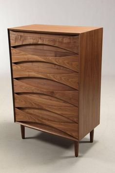 Arne Vodder Commode, Walnut, with Six Drawers | From a unique collection of antique and modern commodes and chests of drawers at https://www.1stdibs.com/furniture/storage-case-pieces/commodes-chests-of-drawers/