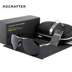 HDCRAFTER Brand Designer Sunglasses for Man Cool Polarized Sun Glasses Men Eyewear UV Protection Oculos de sol masculino #Affiliate