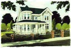 Victorian Style House Plans - 2561 Square Foot Home, 2 Story, 4 Bedroom and 2 3 . - House Plans, Home Plan Designs, Floor Plans and Blueprints Victorian House Plans, Victorian Style Homes, Victorian Farmhouse, Craftsman Style House Plans, Victorian Design, Farmhouse Front, Modern Farmhouse, Farmhouse Style, House Plans And More