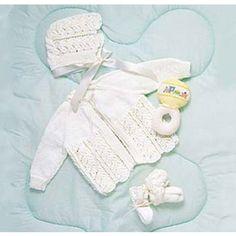 Mary Maxim - Free Baby Layette Set Knit Pattern