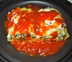 Spinach Lasagna Rolls - Not really sure that the roll has any added benefit over traditional lasagna but I'd eat it just the same.