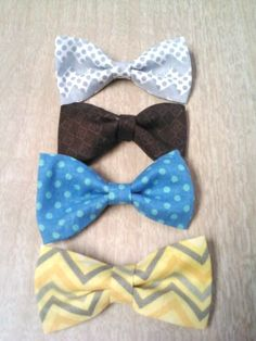 Lil Man Bow Ties - DIY no sew - under 40 cents a piece! - I love My Kids Blog