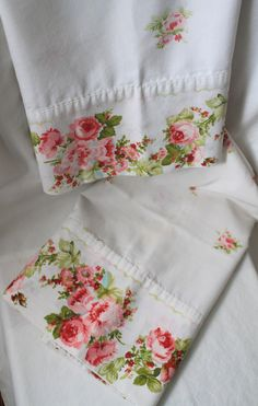 Pair of Vintage Shabby Chic Pillow Cases. $13.50, via Etsy.