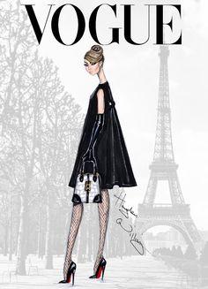 #Hayden Williams Fashion Illustrations #'Bonjour Paris' by Hayden Williams