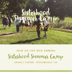 Sisterhood summer camp retreat @kripalucenter {link in bio} is happening this coming August 27th-29th in Stockbridge MA. Join @evanneidich and I for our annual sisterhood experience of joy healing and creative expression! http://ift.tt/2nOIljK