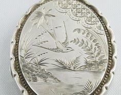 Victorian Sterling Silver Locket - 1882