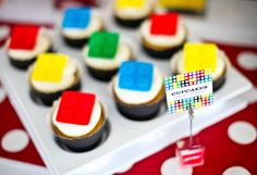 Lego Party cupcakes