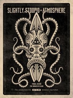Slightly Stoopid and Atmosphere // Berkeley, CA poster by DKNG