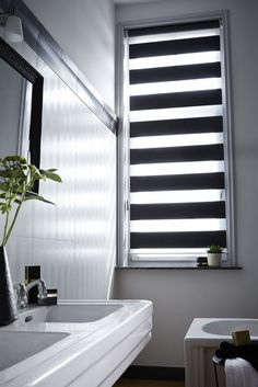 window decorations darkening face protection blinds bathroom modern black and white