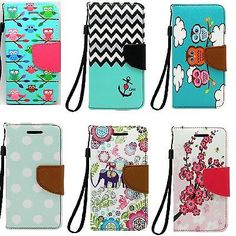 Magnetic Flip PU Leather Card Wallet Stand Case Cover For iPod Touch 5th 6th Gen