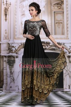 2015 Prom Dresses A Line Bateau Floor Length Lace
