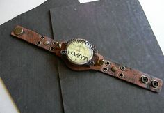 Tesla Tribute Steampunk Wrist Cuff Watch  by CuriosityShopper, $115.00