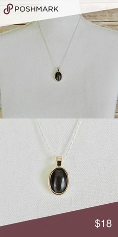 """Purple stone teardrop necklace Purple stone and silver, teardrop necklace. 16"""" chain. Like new condition. Jewelry Necklaces"""