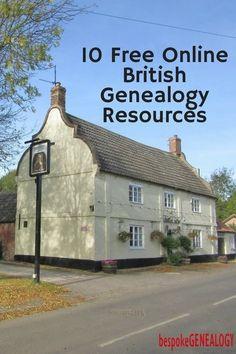 10 Free Online British Genealogy Resources | British Genealogy Research | Family History | Bespoke Genealogy | #genealogy
