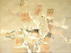 São Mamede - Galeria de Arte Rocha de Sousa A queda dos astraunautas Anos 60 Acrilico x Tela 90 cm x120 cm