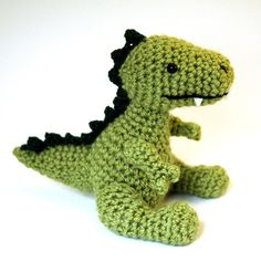 Crochet Patterns Free Doll Clothes : Dinosaur Trio by WolfDreamer - Craftsy Dinosaurs ...