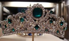 The Duchess of Angouleme Tiara part of French Crown Jewels and on display in Louvre