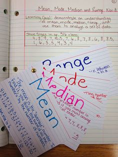 Runde's Room: Math Journal Sundays - Data Management - Mean, Mode, Median, and Range. Wer not doing these skills, but good journal idea! Interactive Student Notebooks, Math Notebooks, Maths Journals, Fifth Grade Math, Third Grade, Sixth Grade, Just In Case, Just For You, Math Notes