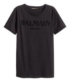 H&M T-shirt with a velvet print  $39.95