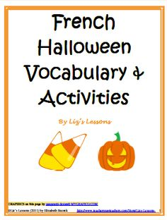Halloween Vocabulary and Activities for French or Spanish Class! as seen on High School Herd  www.highschoolherd.com