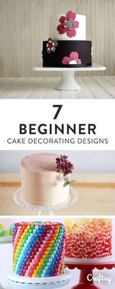 Build your repertoire of cake decorating techniques and produce beautiful cakes right off the bat with these fun and inspiring cake designs for beginners.