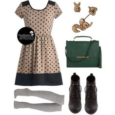 """Coffee and Ice Cream Dress"" by modcloth on Polyvore"