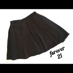 Forever 21 black skater skirt w/shorts 😍 Forever 21 skirt. Black skater skirt with shorts underneath. Great shape. Size XS Forever 21 Skirts