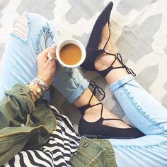Style Watch: Lace up Flats